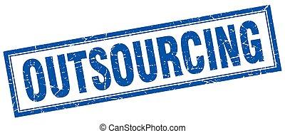 postzegel, plein, outsourcing