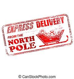 postzegel, pool, noorden