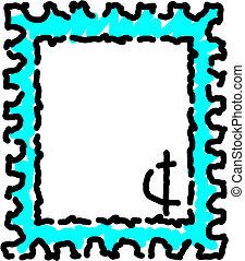 postzegel, post