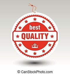 postzegel, prijs label, etiket, papier, vector, best, kwaliteit, rood