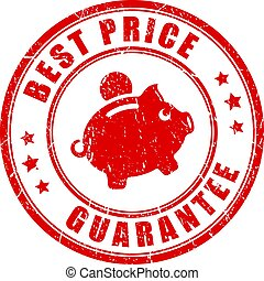postzegel, prijs, vector, best, borg staan voor