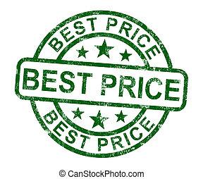 postzegel, prijs, verkoop, reductie, het tonen, best