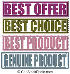 postzegel, product, aanbod, echt, best, set, product, keuze