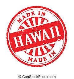 postzegel, rubber, gemaakt, grunge, hawaii