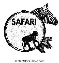 postzegel, safari