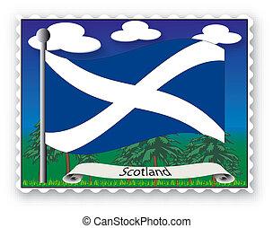 postzegel, schotland