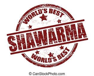 postzegel, shawarma