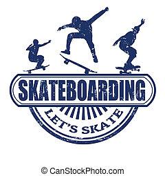 postzegel, skateboarding