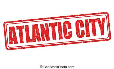 postzegel, stad, atlantische