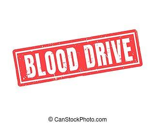 postzegel, stijl, bloed, rood, besturen
