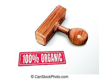 postzegel, tekst, 100 procenten, organisch