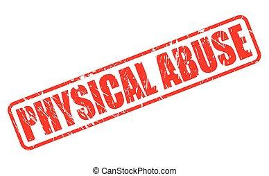 postzegel, tekst, misbruiken, rood, lichamelijk