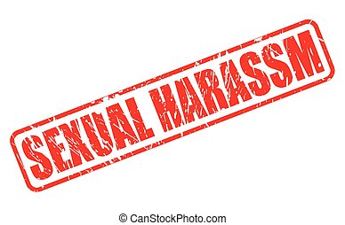 postzegel, tekst, seksuele , harassm, rood