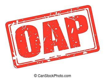 postzegel, tekst, wit rood, oap