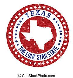 postzegel, texas