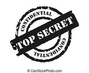 postzegel, \'top, secret\'