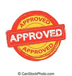 postzegel, vector, goedgekeurd