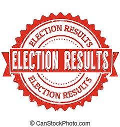postzegel, verkiezing, resultaten