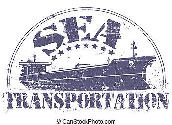 postzegel, vervoer, zee