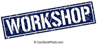 postzegel, workshop, grunge, plein