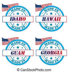 postzegels, amerika