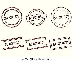 postzegels, augustus