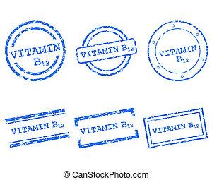 postzegels, b12, vitamine