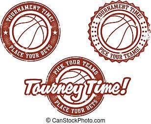 postzegels, basketbal, toernooi