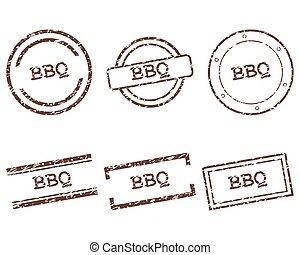 postzegels, bbq