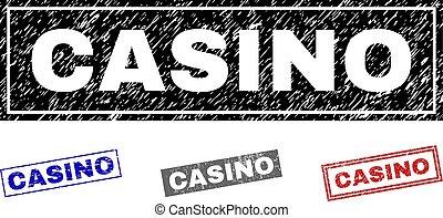 postzegels, casino, grunge, rechthoek, textured