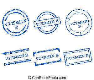 postzegels, e, vitamine