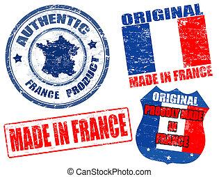 postzegels, gemaakt, frankrijk