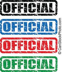 postzegels, officieel