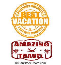 postzegels, reizen, vakantie, best, verbazend
