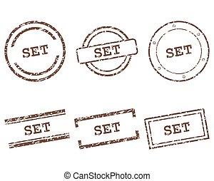 postzegels, set