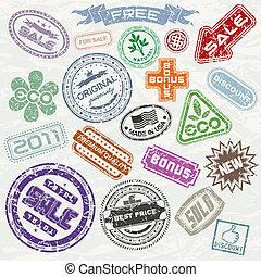 postzegels, shoppen