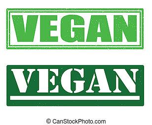 postzegels, vegan