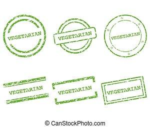 postzegels, vegetariër