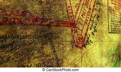 postzegels, visum, paspoort
