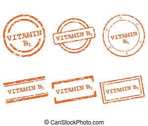postzegels, vitamine b1