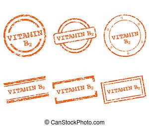 postzegels, vitamine b2
