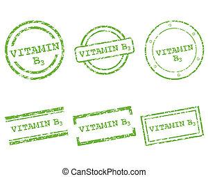 postzegels, vitamine b3