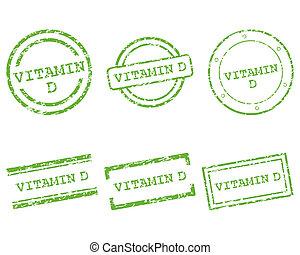 postzegels, vitamine d