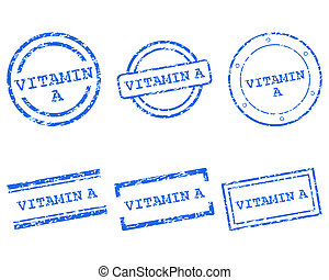 postzegels, vitamine