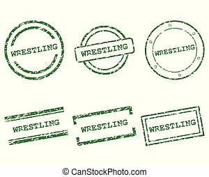postzegels, worstelen