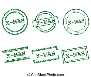postzegels, x-mas
