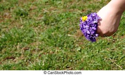 posy, van, bloemen, viola odorata