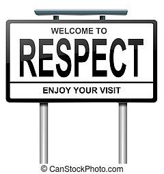 poszanowanie, concept.