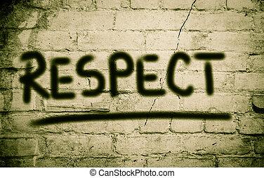 poszanowanie, pojęcie