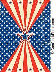 poszter, amerikai, történelmi